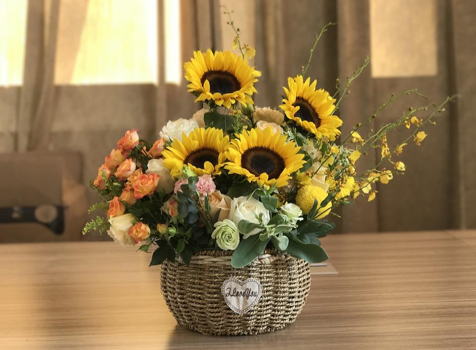 Sunflower, Flower Arrangement, Flower