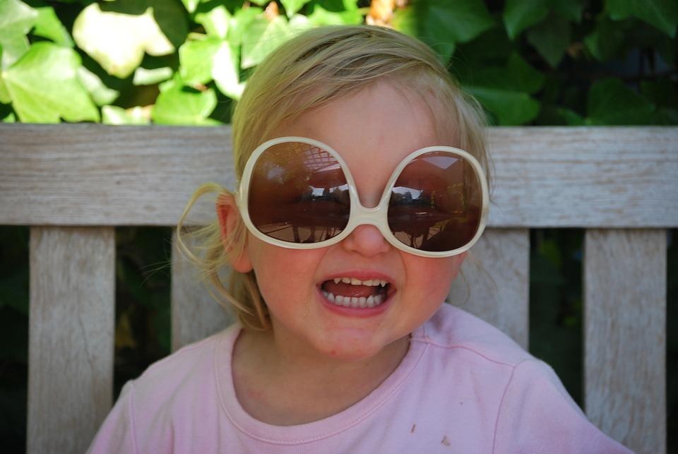 Child, Sunglasses, Cute, Face, People