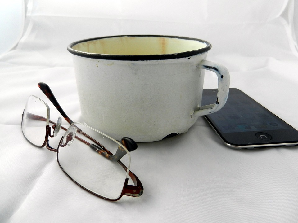 Cup, Sunglasses, Phone, Breakfast, Mobile Phone