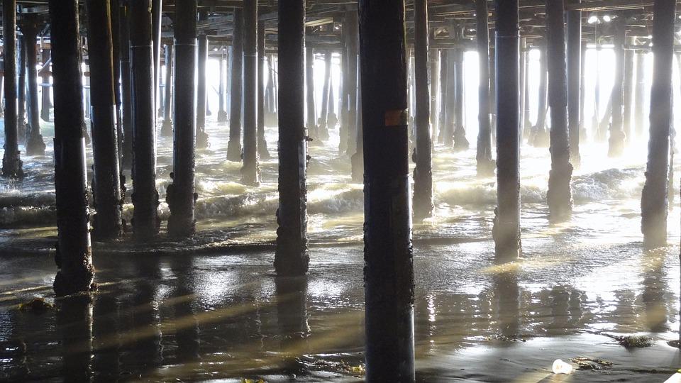 Pillar, Columnar, Sea, Water, Surreal, Sunlight