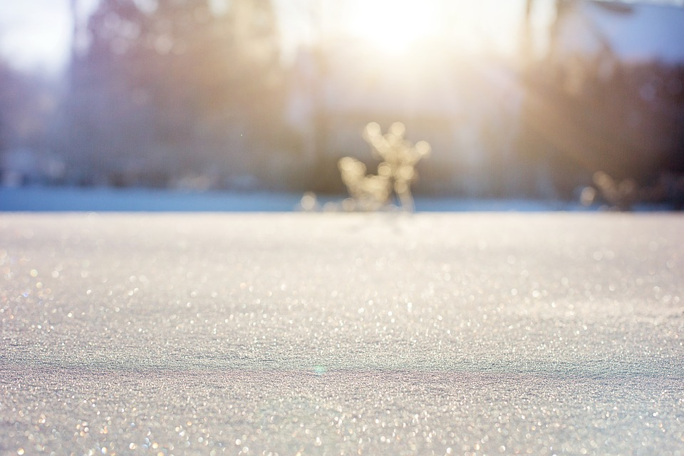 Snow, Field, Sunlight, Sunrise, Dawn, Morning, Snowy