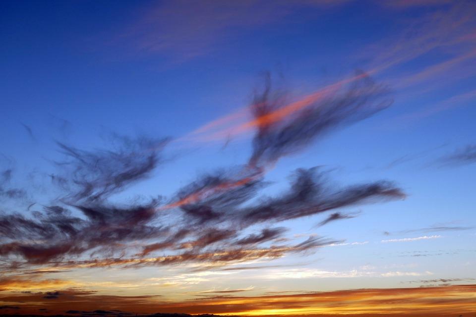 Sky, Sunset, Sunrise, Sun, Nature, Sunlight, Blue
