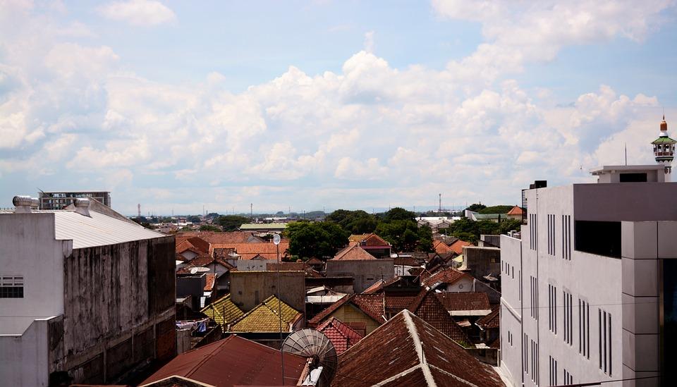 City, House, Panoramic, Outdoors, Sunny, Sky, Cloud