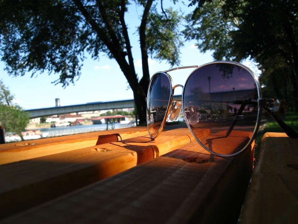 Sunny Day, Sun Glasses, Bench, Tree, Clear Sky, Bridge