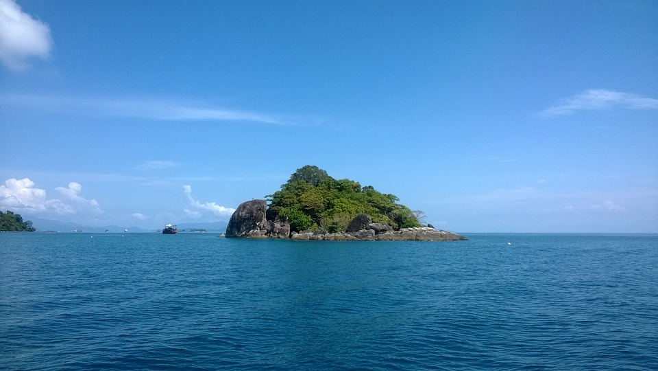 Island, Sunny Day, Gulf Of Thailand