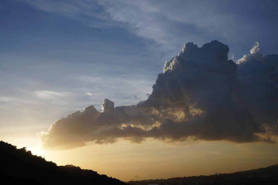 El Salvador, Heaven, Sky, Clouds, Sunny, Sunset, Nature