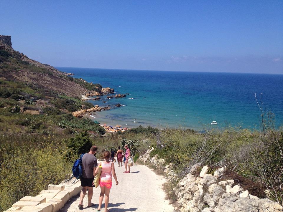 Ocean, Path, Sunny, Mediterranean, Gozo, Malta, Coast