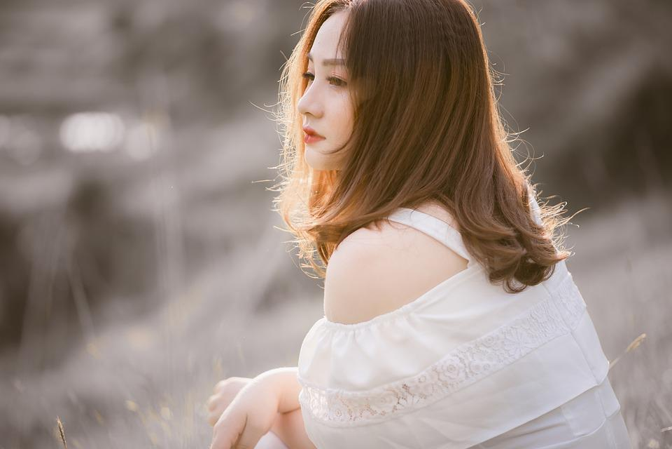 Girl, Sunny, Hair, Portrait, Sad, Sunlight