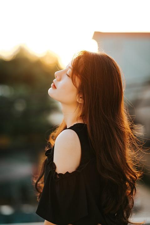 Girl, Beauty, Portrait, Profile, Sunny, Summer