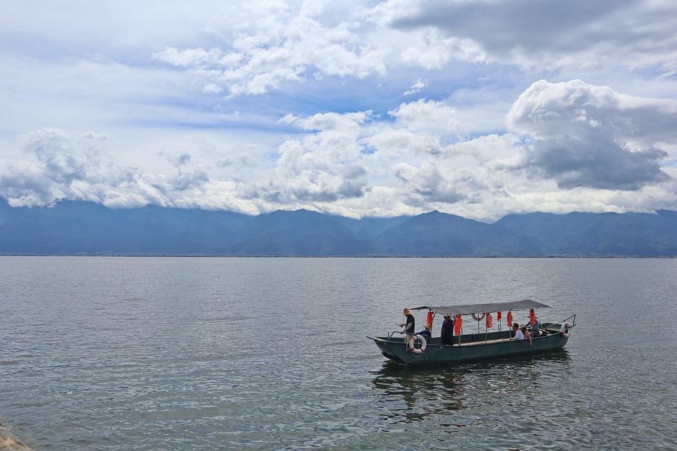 Erhai Lake, Boat, Sailboat, Landscape, Sunny, Scenery