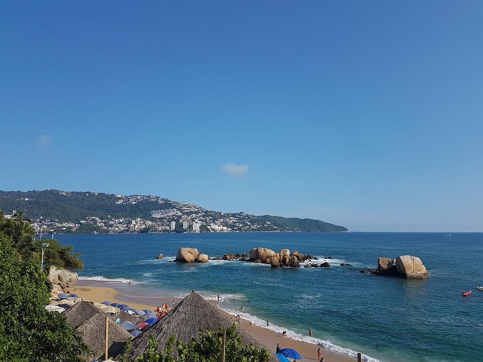 Acapulco Sea Sky Beach Mexico Sunny Paradise