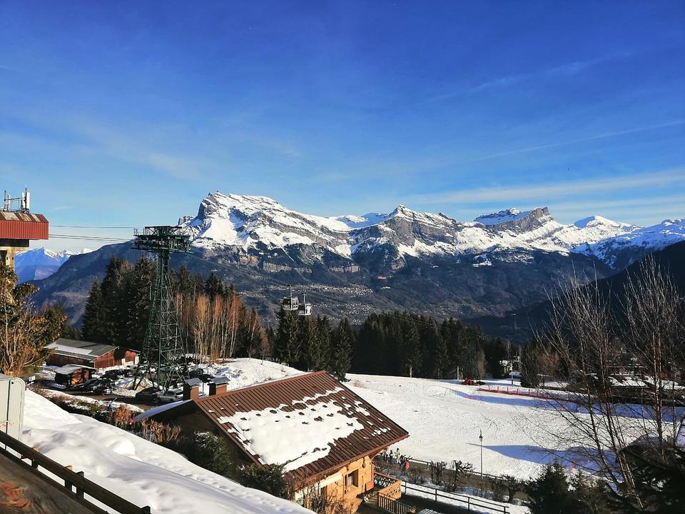Sunny, Winter, Snow, Landscape