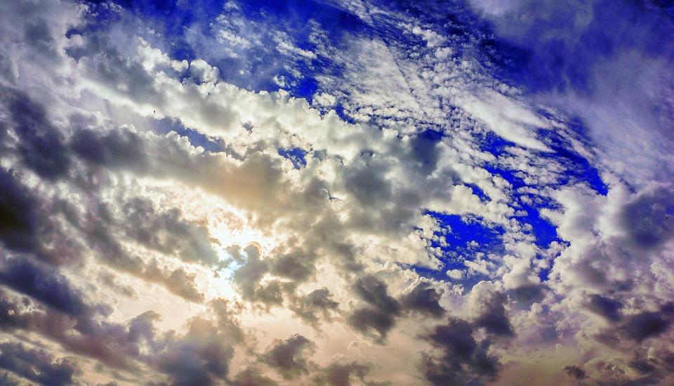 Sky, Clouds, Celajes, Sun, Sunny, Blue, Afternoon