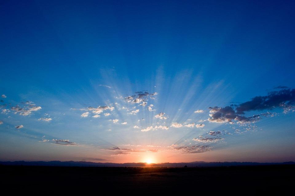 Sunrise, Sky, Blue, Sunlight, Clouds, Dawn, Horizon