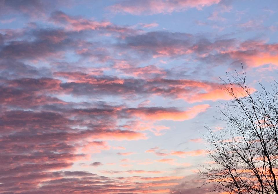 Sunset, Nature, Dawn, Panorama, Sky, Sunrise, Clouds