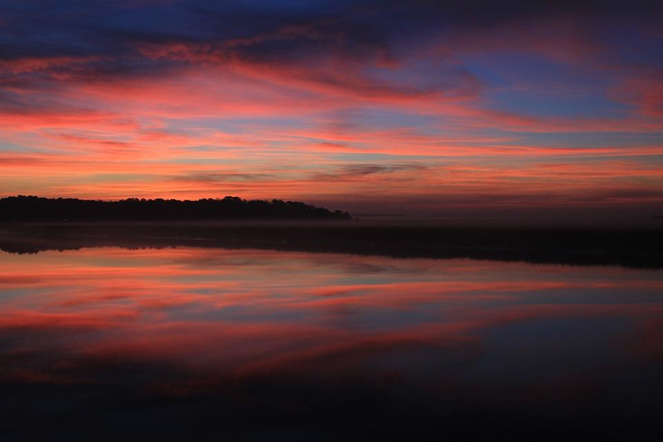 Sunrise, Georgia Sunrise, Georgia, Water, Nature