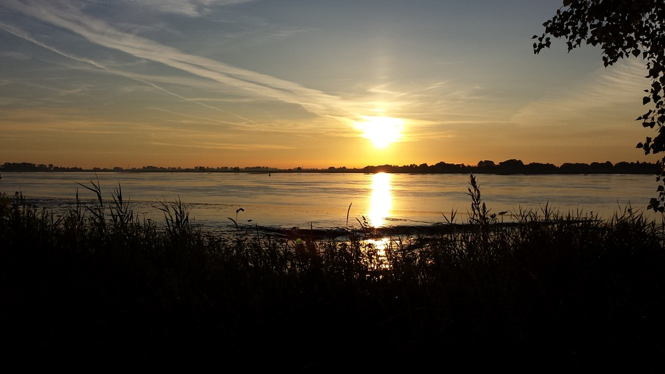 Weser, Sand, Sunrise, Rest, Clouds, Recovery, Sun, Heat