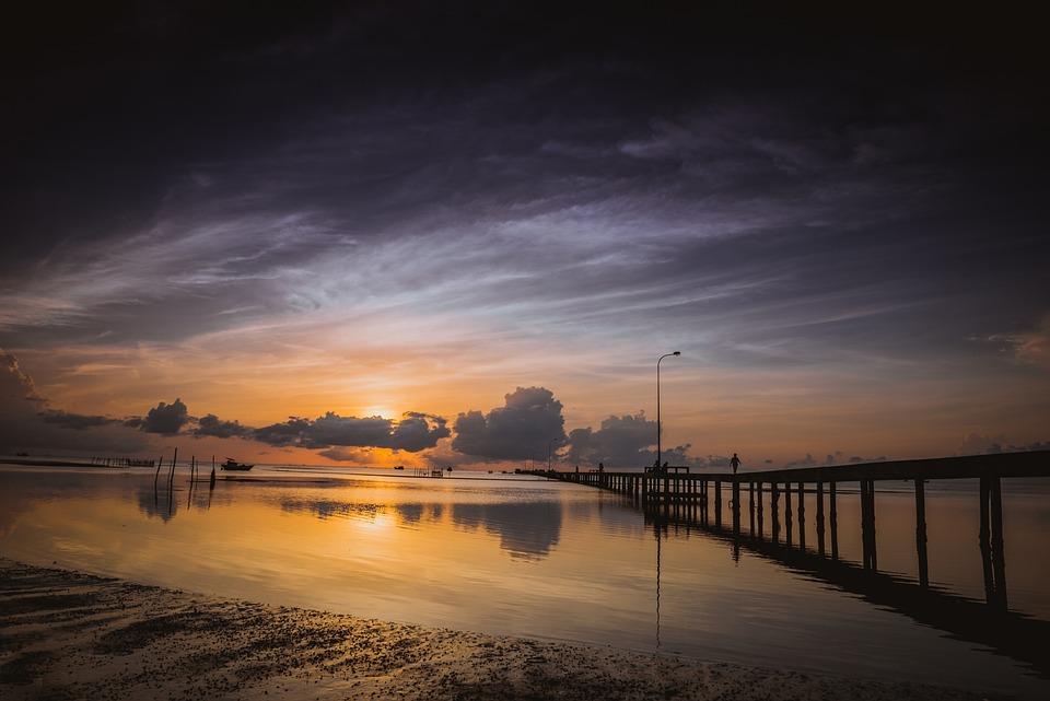 Ham Ninh, Vietnam, Jetty, Sunrise, Phu Quoc, Morning