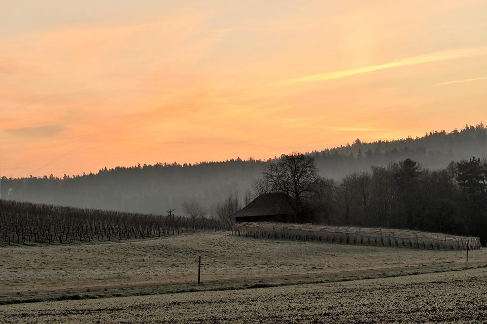 Landscape, Morgenrot, Morgenstimmung, Sunrise, Skies