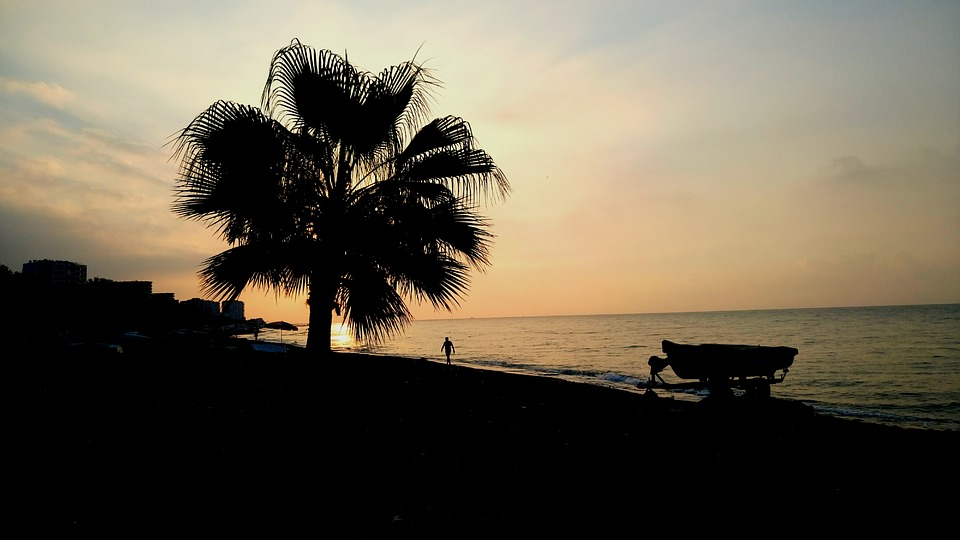 Sunrise, Yellow Iron, Nature, Landscape, Marine, Water