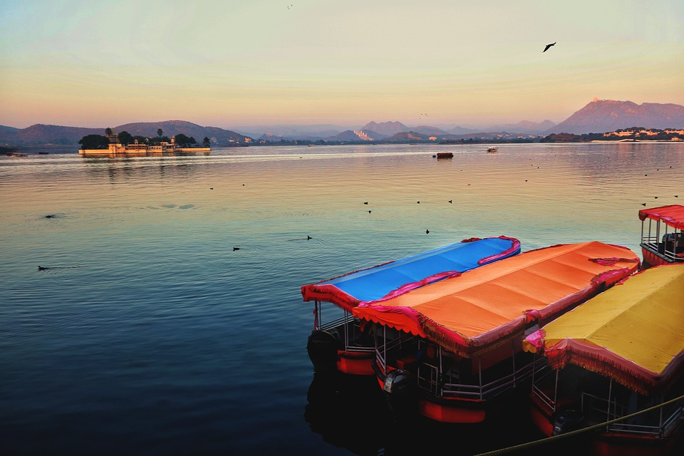 Lake, Boats, Morning, Sunrise, Sun, Birds, Feel, Indian