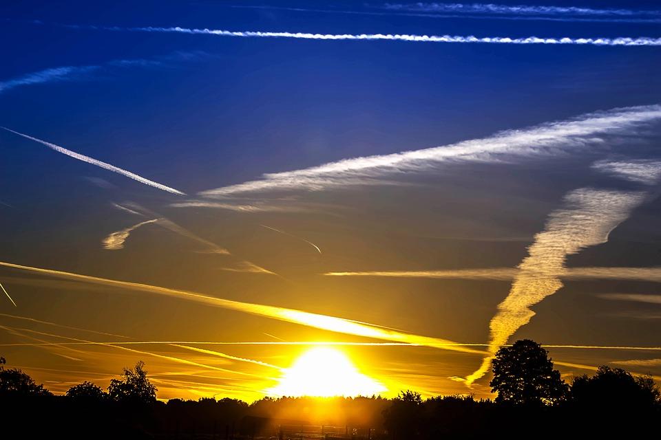 Sunrise, Sun, Sunbeam, Sky, Skies, Rays, Forest, Nature