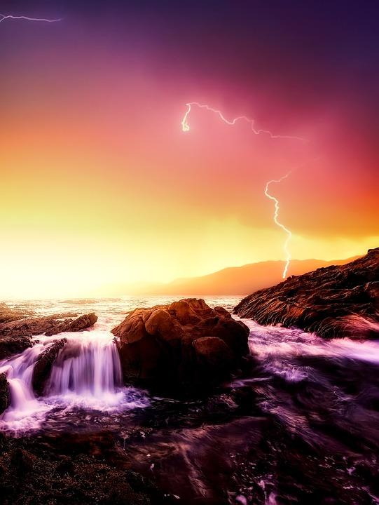 California, Sea, Ocean, Pacific, Sunset, Sunrise