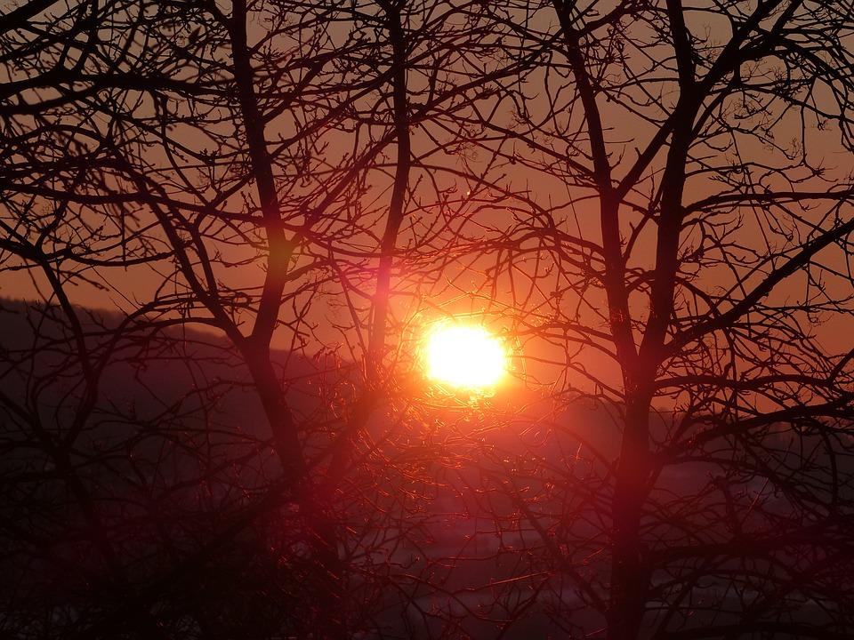 Sunrise, Mood, Red, Romantic, Nature, Back Light