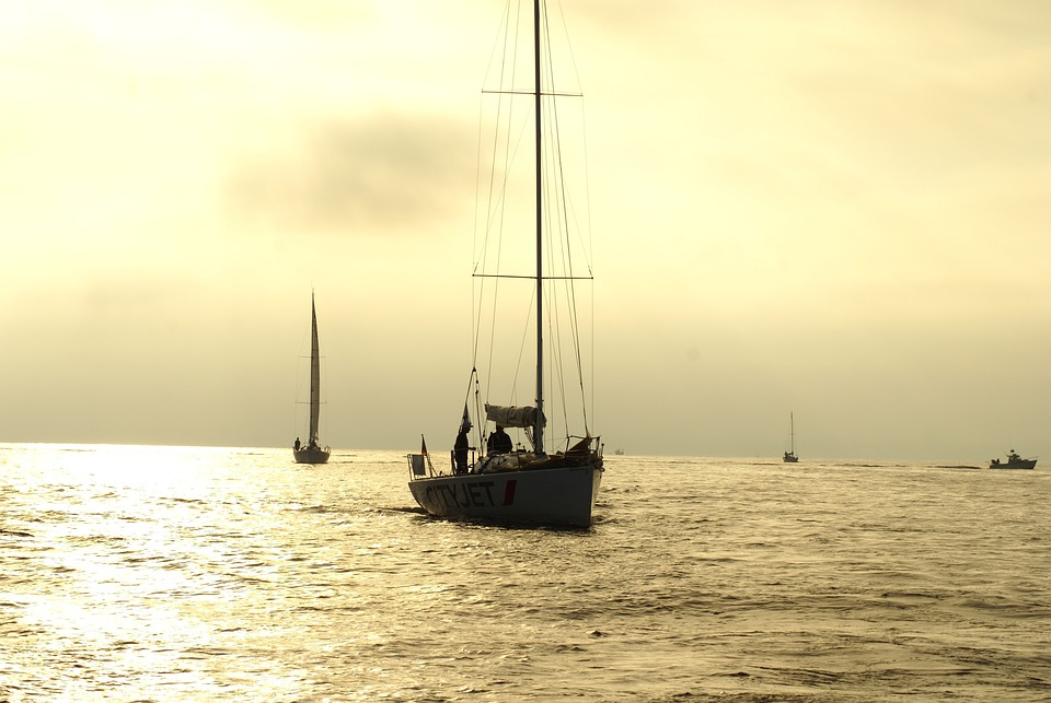 Sailboat, Sunrise, Yole