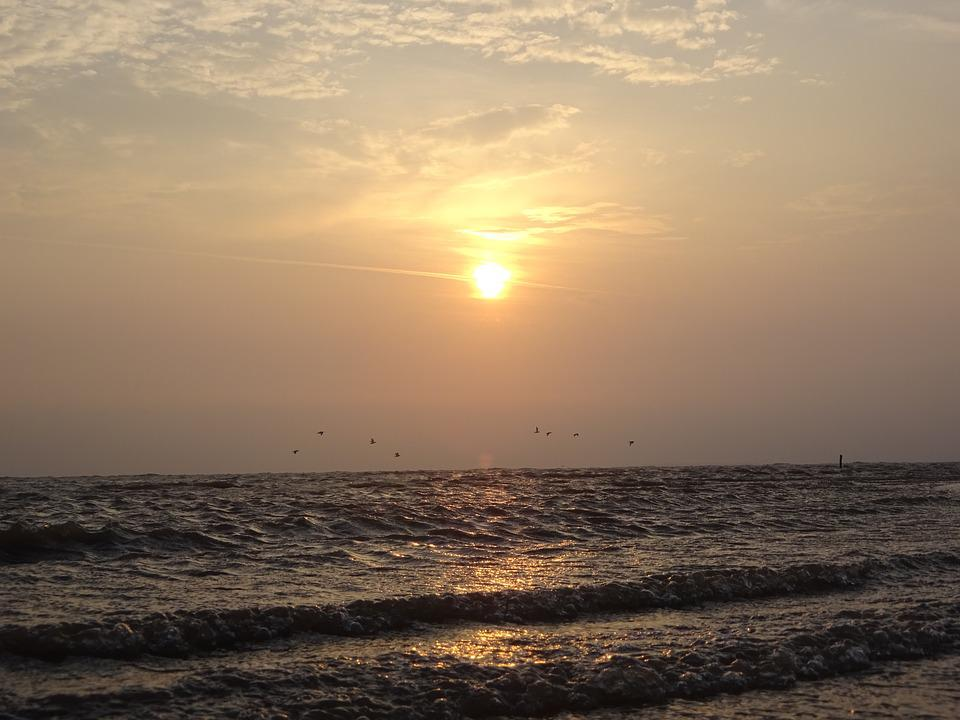 Sunrise, Sun, Beach, Sand, Coast, Summer, Sky, Nature