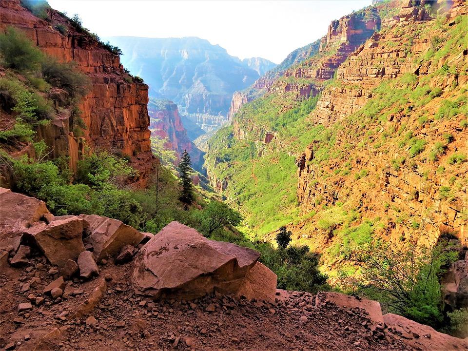 Grand Canyon, Sunrise, Hiking, Scenic, Dramatic