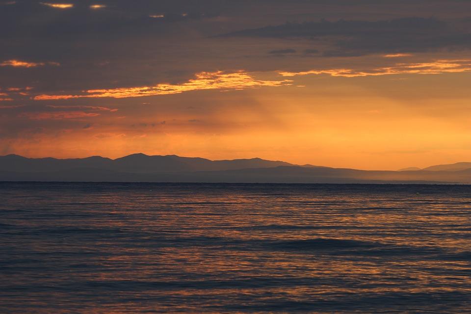 Sunrise, Horizon, Sea, Summer