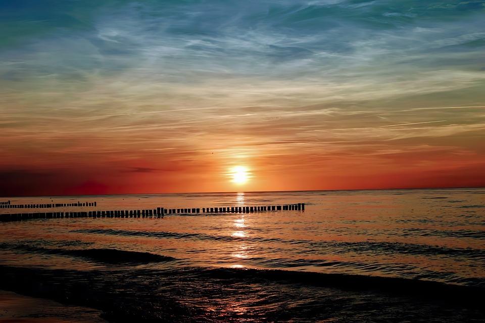 Sunset, Beach, Sea, Sunrise, Freedom, Water, Ocean