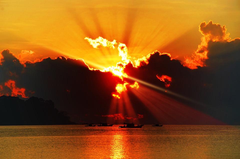 Sunset, Beach, Sea, Beach Sunset, Ocean, Sky, Sunrise