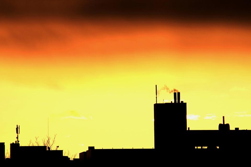Sunrise, Silhouette, City