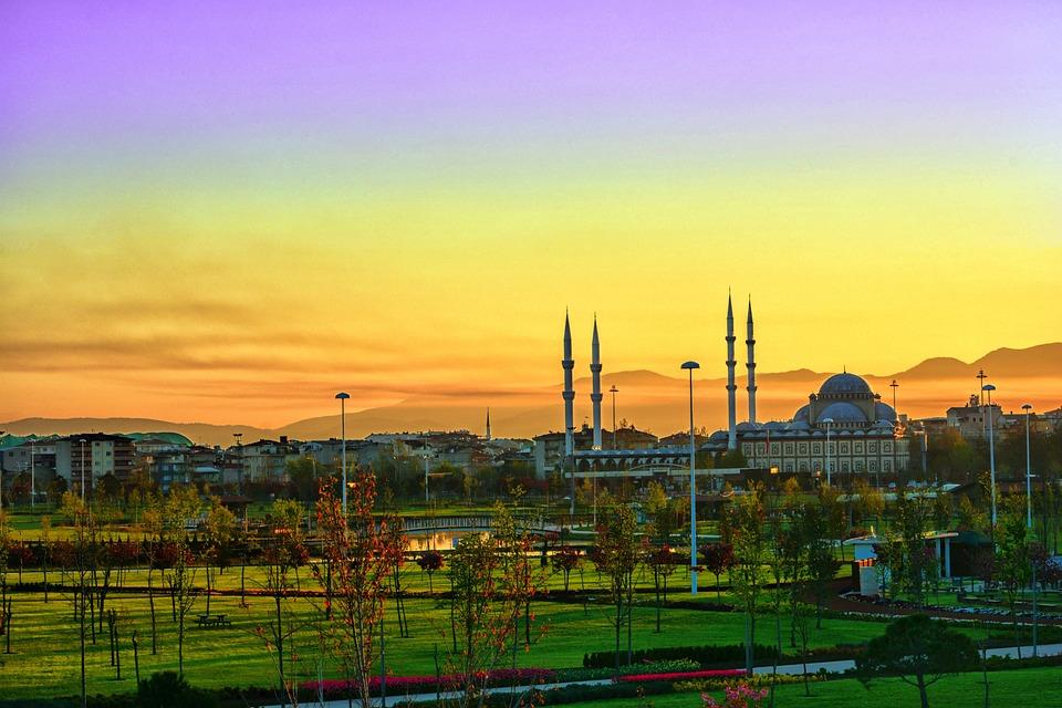 Panoramic, Sky, Industry, City, Horizontal, Sunrise