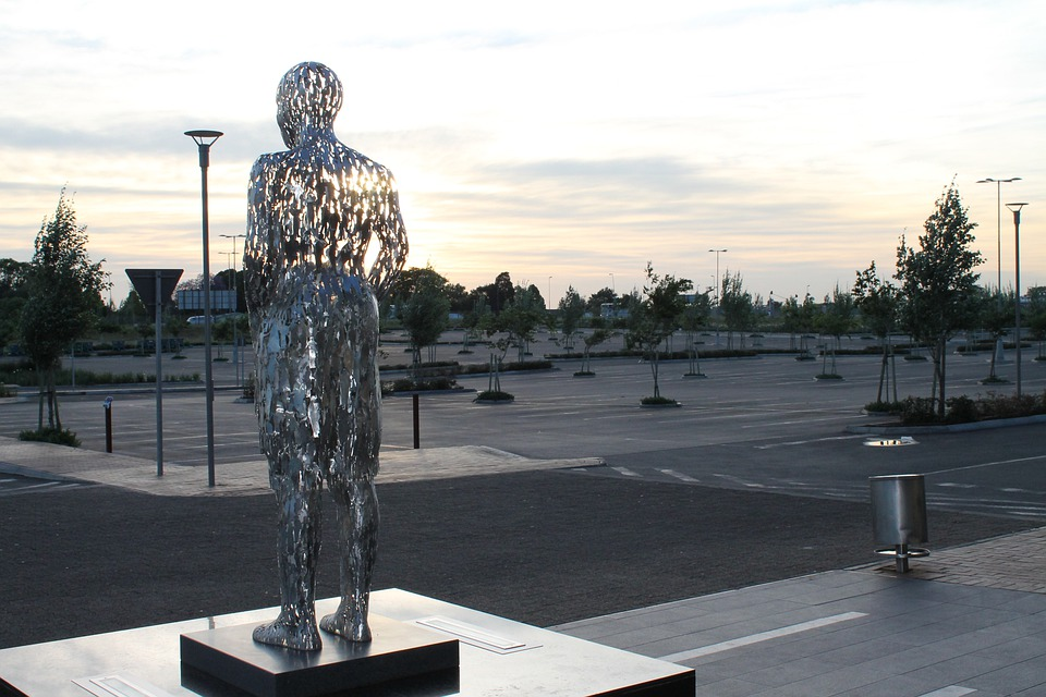 Silver, Sunrise, Sculpture, Monument, Statue, Creative