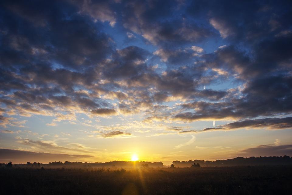 Sunrise, Sun, Landscape