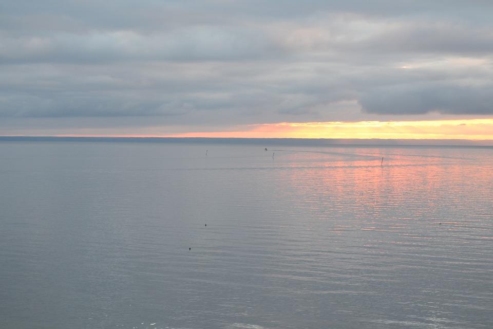 Vättern, Sunrise, Cloud