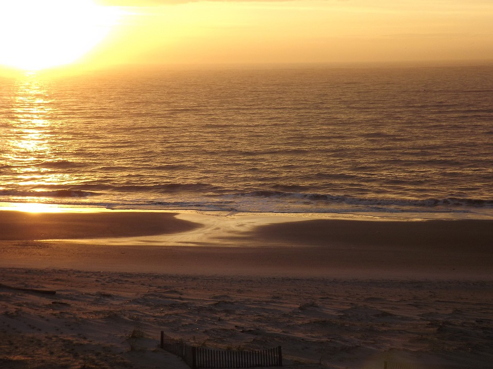 Sunrise, Sunset, Clouds, Sky, Charleston, Winter, Waves