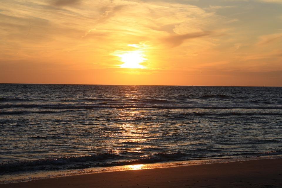 Sunset, North Sea, Holland, Sea, Abendstimmung, Sky