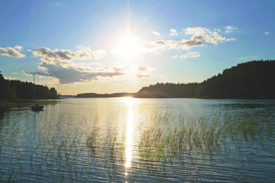 Lake, Nature, Landscape, Water, Sunset, Abendstimmung