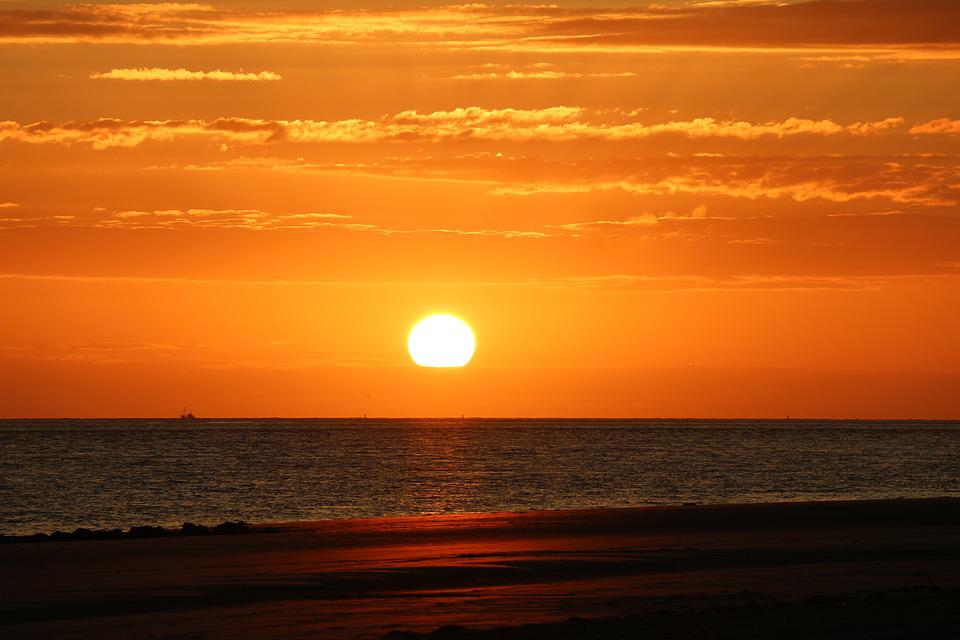 Sunset, Sea, Romance, Abendstimmung