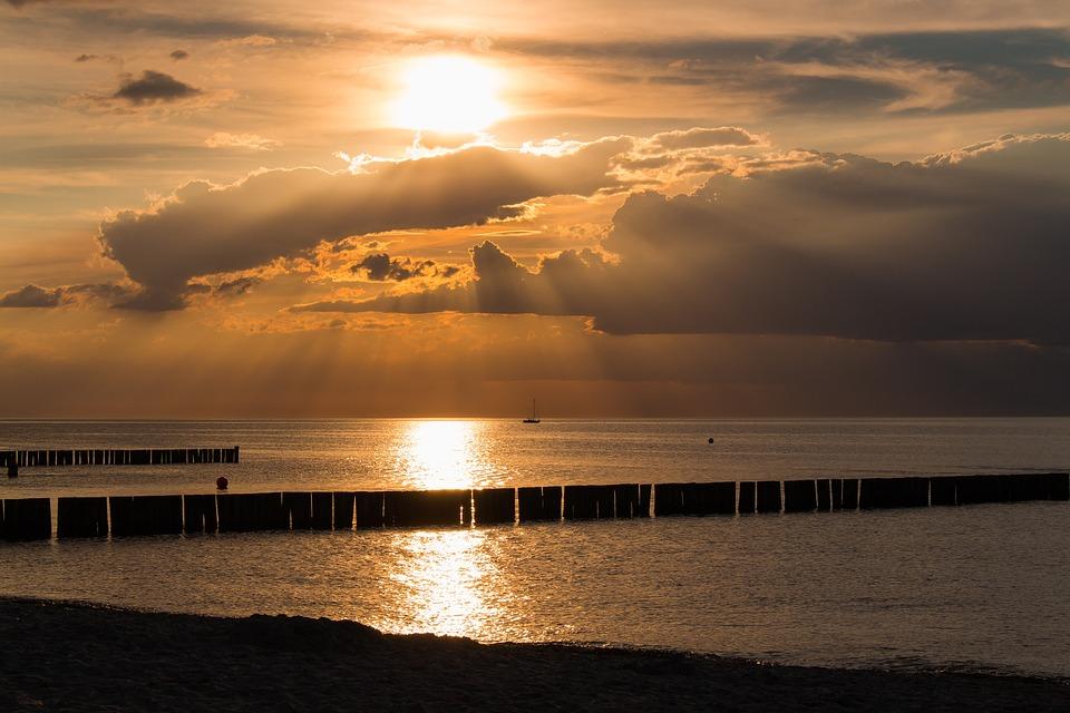 Sunset, Sea, Sunset Sea, Abendstimmung, Clouds, Water
