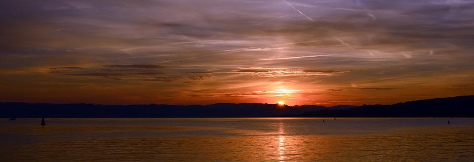 Sunset, Sky, Clouds, Abendstimmung, Afterglow