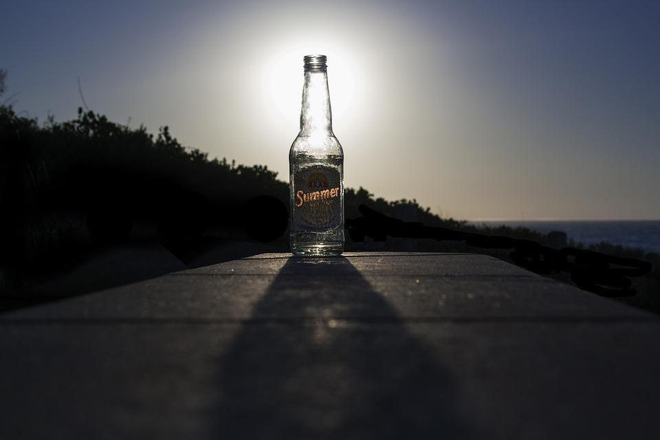 Sunset, Bottle, Beer, Summer, Cottesloe, Alcohol