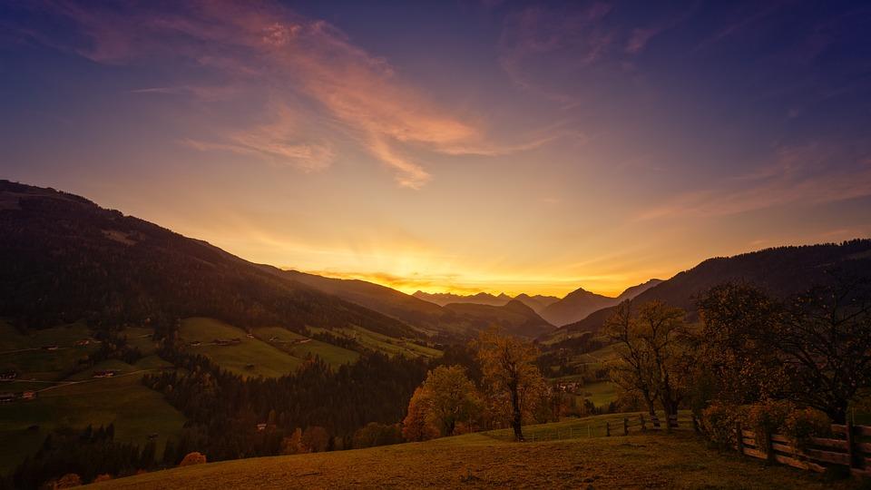 Sunset, Alpine, Mountains, Nature, Landscape, Tyrol