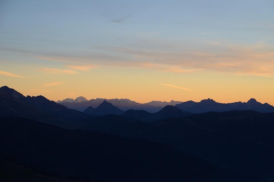 Sunset, Aravis, Nature
