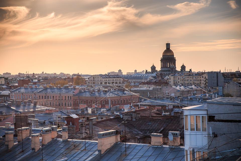 Sunset, City, Architecture, Horizon, Tourism, Building
