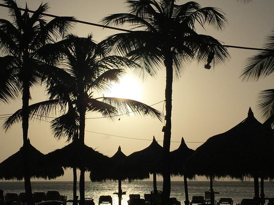 Sunset, Aruba, Caribbean